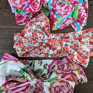 Set of 3 Baby Toddler Headwrap Bows
